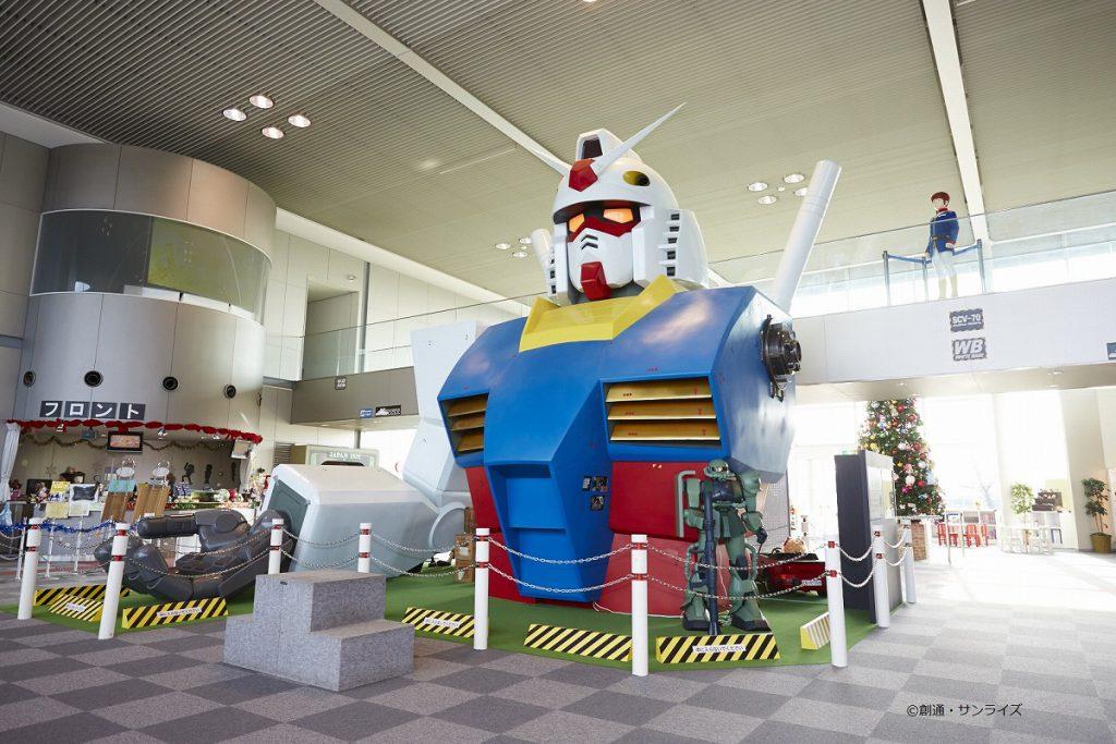 原寸大ガンダム胸像©創通・サンライズ/おもちゃのまちバンダイミュージアム(栃木県/壬生町)