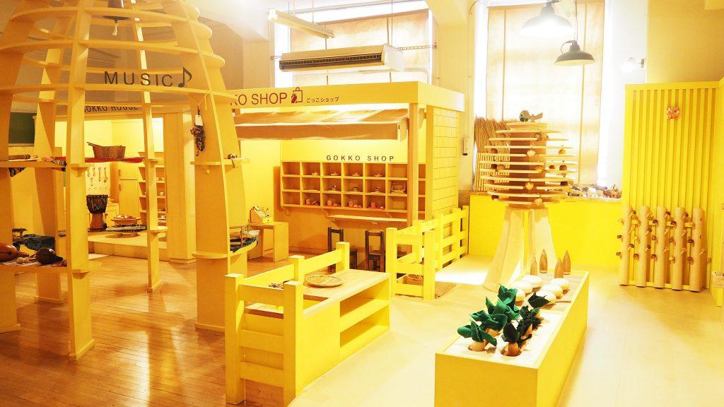 「おもちゃのまち きいろ」ではごっこ遊びができる/東京おもちゃ美術館(新宿区)