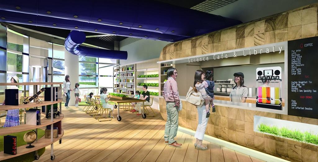 カフェ「SOW」の様子/浜松科学館「みらいーら」(静岡県/浜松市)