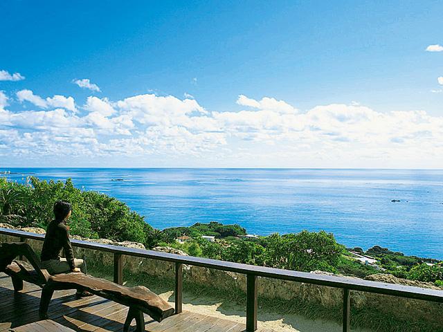 ウッドテラスからの眺め/アジアンハーブレストランカフェ くるくま(沖縄県/南城市)