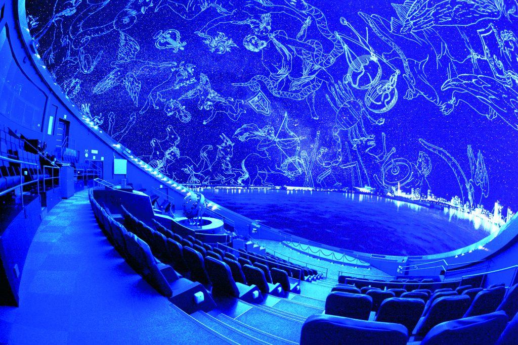 プラネタリウムのドーム内/はまぎん こども宇宙科学館(神奈川県/横浜市)