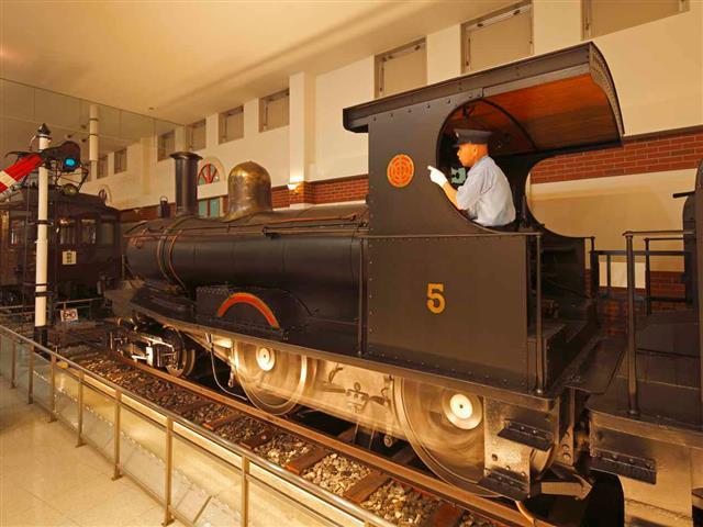 5号蒸気機関車のSLショー/東武博物館(東京都/墨田区)