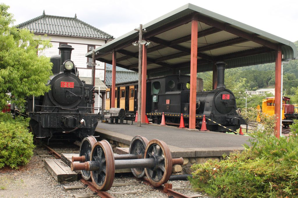 蒸気機関車、内燃機関車などの展示/加悦SL広場(京都府/与謝野町)
