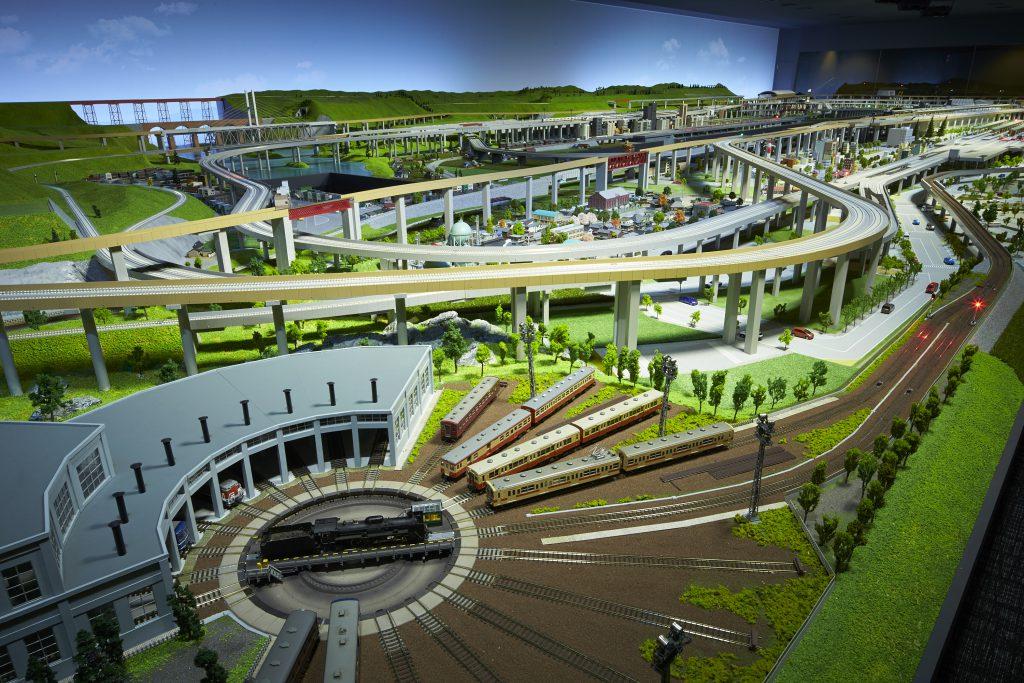 国内最大級の鉄道ジオラマ/京都鉄道博物館(京都市)