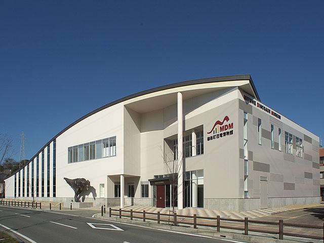 御船町恐竜博物館の外観(熊本県)