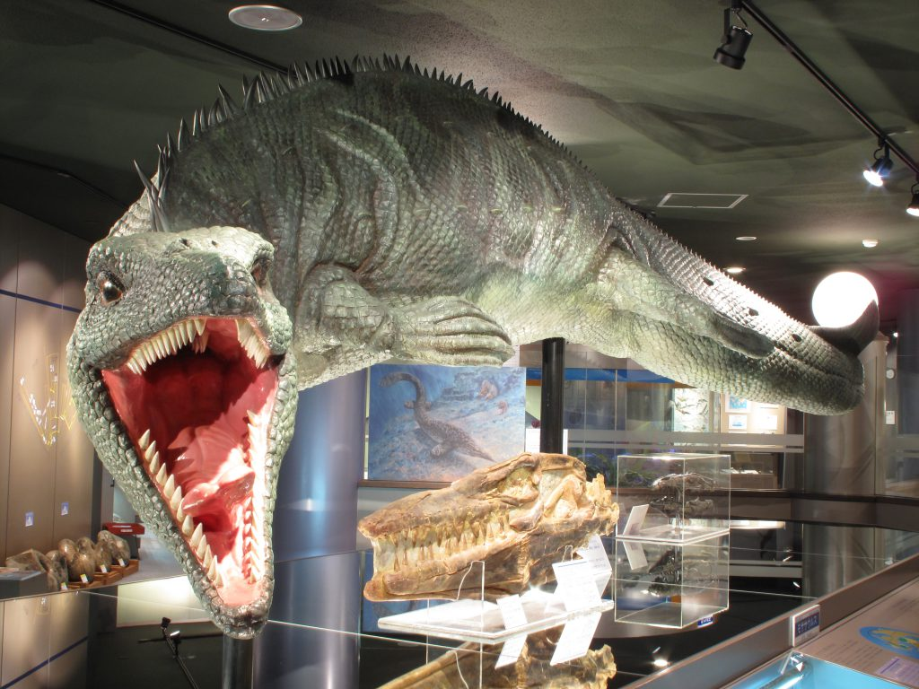 モササウルス類生体復元模型/むかわ町穂別博物館(北海道)