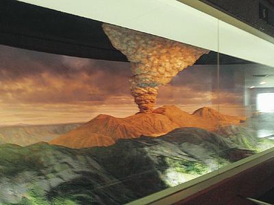 カルデラ形成の動くジオラマ/阿蘇火山博物館(熊本県)