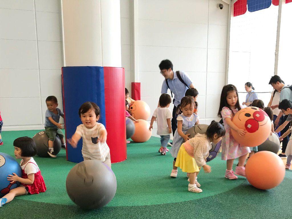 大人気のストレッチボール/横浜アンパンマンこどもミュージアム(神奈川県/横浜市)
