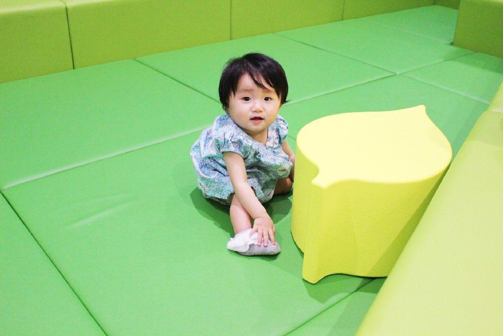 緑色のエリアがはいはいの赤ちゃんスペース/横浜アンパンマンこどもミュージアム(神奈川県/横浜市)