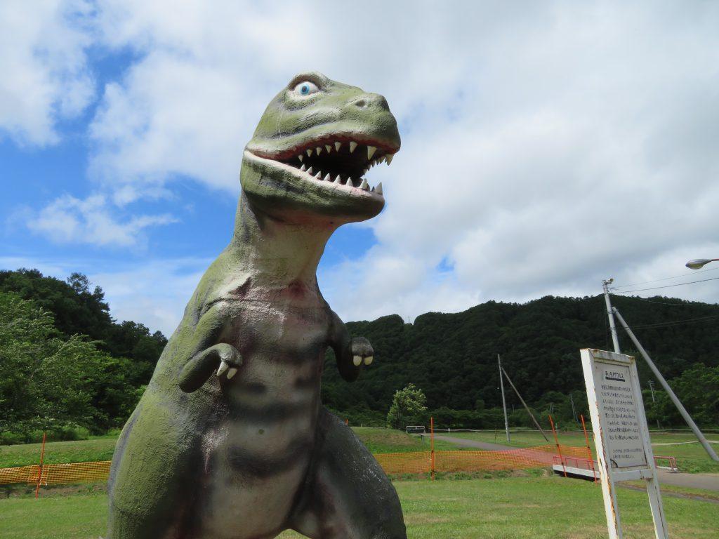 ティラノサウルスの復元模型/ファミリーランドみかさ遊園(北海道/三笠市)
