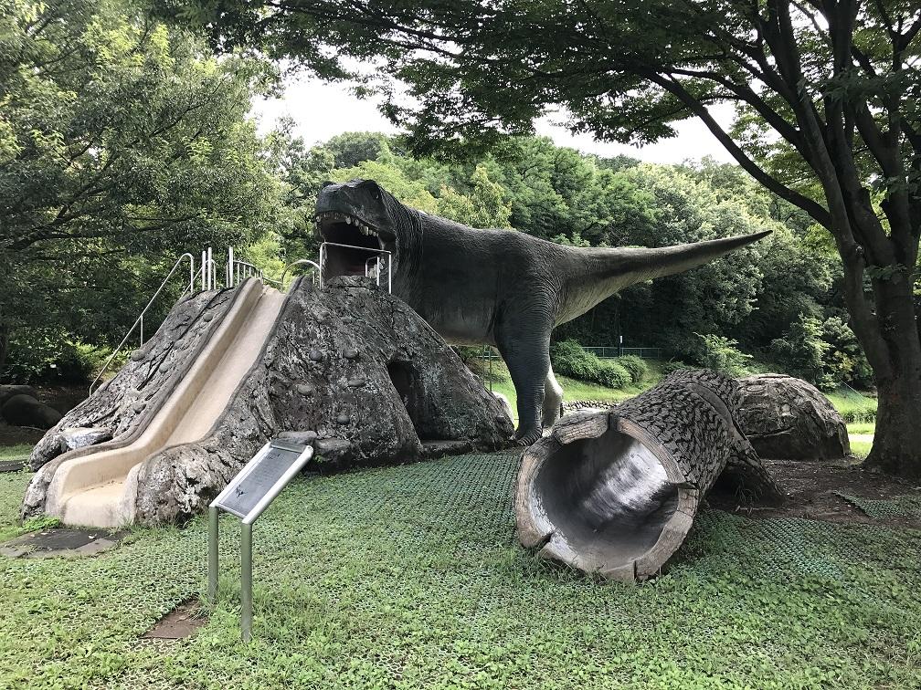 ティラノサウルスのすべり台/佐野市こどもの国(栃木県/佐野市)