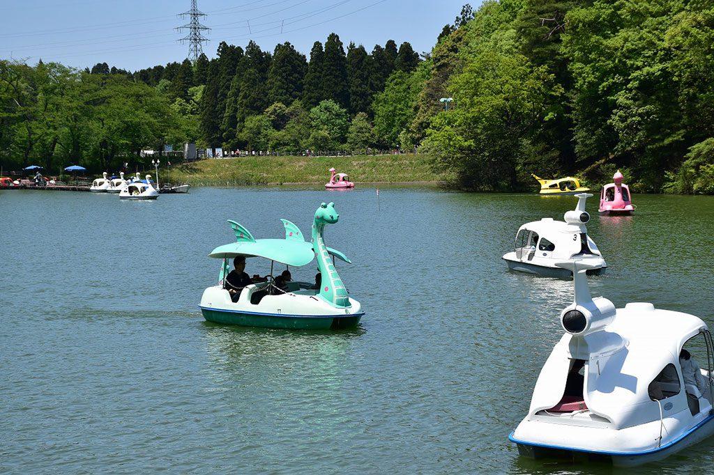 恐竜ボート/県民公園太閤山ランド(富山県/射水市)
