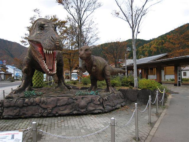 ティラノサウルスの復元模型/道の駅九頭竜(福井県/大野市)