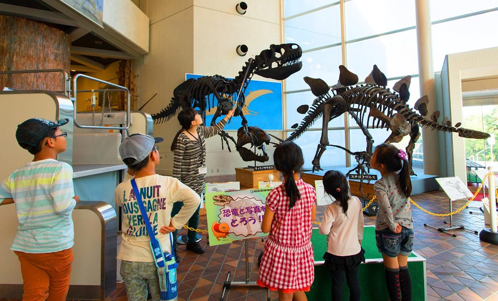 解説員による「恐竜の話」を聞いてお勉強/岐阜県博物館(岐阜県/関市)