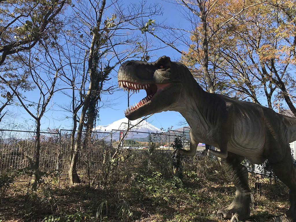ティラノサウルスの復元模型/富士ジュラシックウェイ(静岡県/駿東郡小山町)