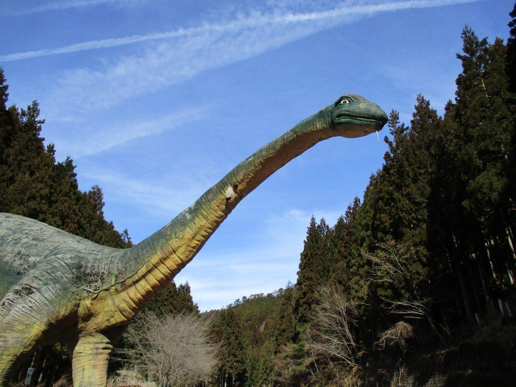ディプロドクスの復元模型/小原洞窟恐竜ランド&極楽洞(和歌山県/かつらぎ町)