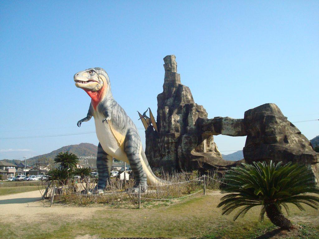ティラノサウルスなど/笠岡市立カブトガニ博物館(恐竜公園)(岡山県/笠岡市)
