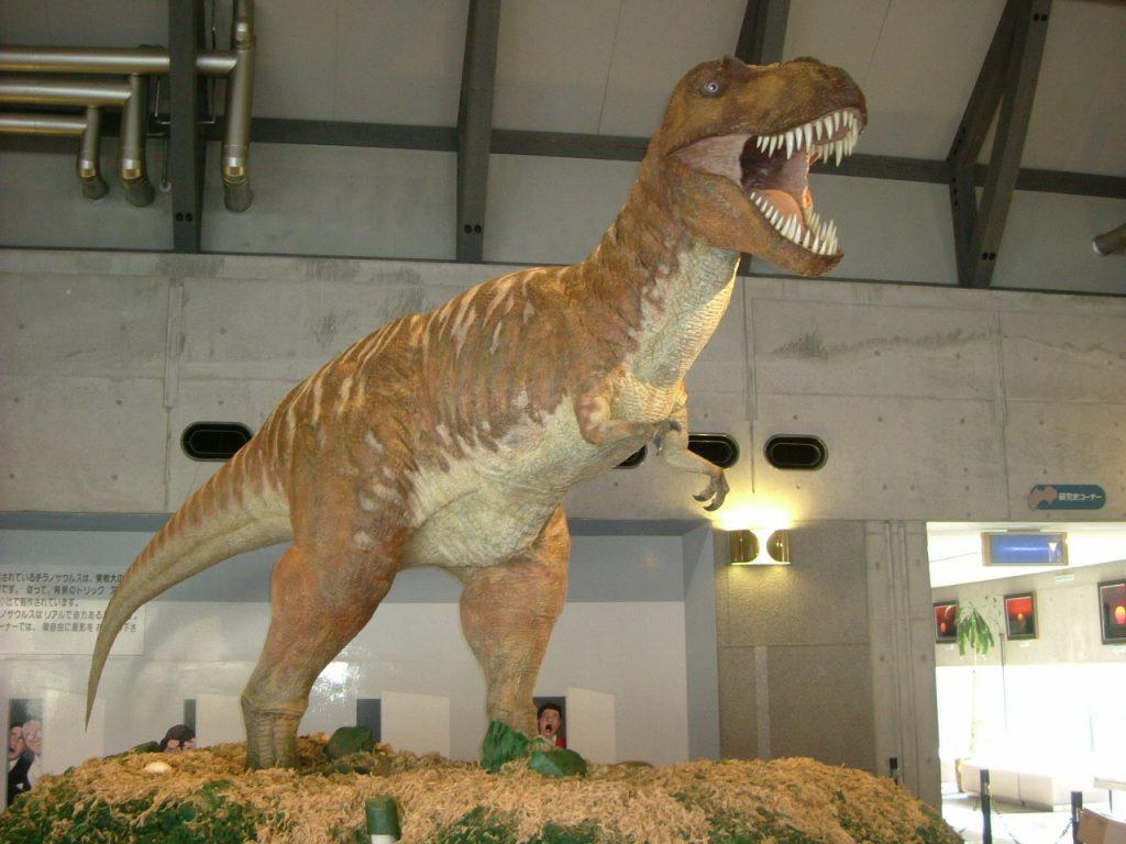 ティラノサウルスの模型/佐川町立佐川地質館(高知県/佐川町)
