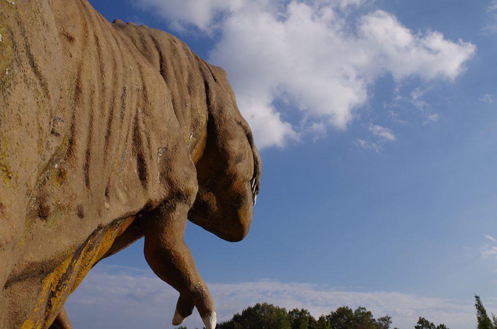 ティラノサウルスの復元模型/太古の森(香川県/三木町)