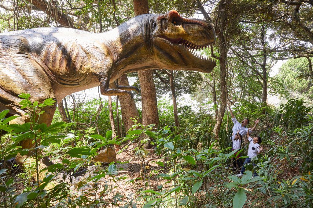 ティラノサウルスの復元模型/ハウステンボス(ジュラシックアイランド)(長崎県/佐世保市)