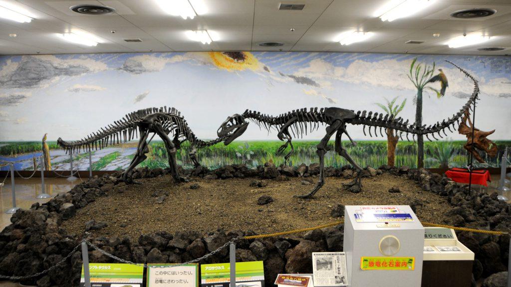 アロサウルスなどの恐竜化石/鹿児島県立博物館(鹿児島県/鹿児島市)