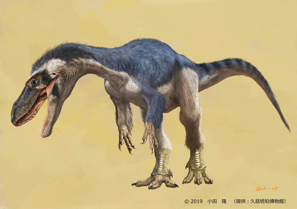 ティラノサウルス類の復元画/久慈琥珀博物館(岩手県)
