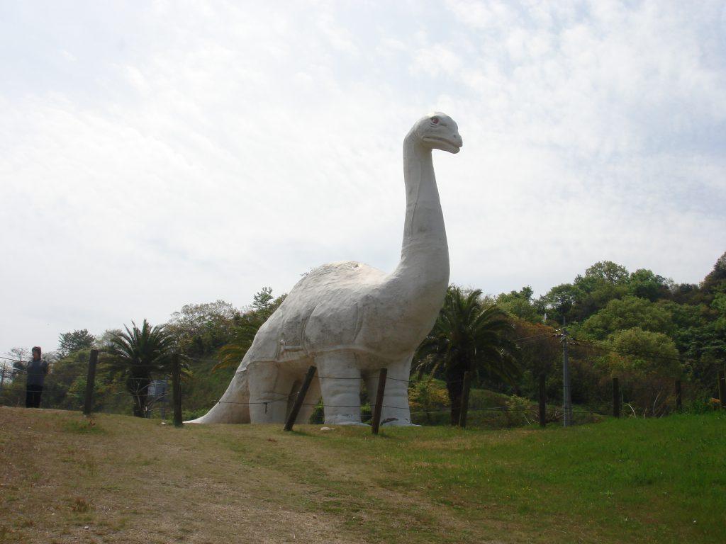 公園入口の恐竜像/因島アメニティ公園(広島県/尾道市)