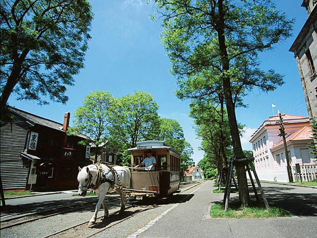 馬車鉄道で開拓時代を体感/北海道開拓の村(北海道札幌市)