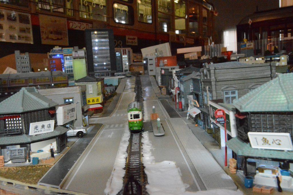 仙台市電が走っていた街のジオラマ模型/仙台市電保存館(宮城県/仙台市)