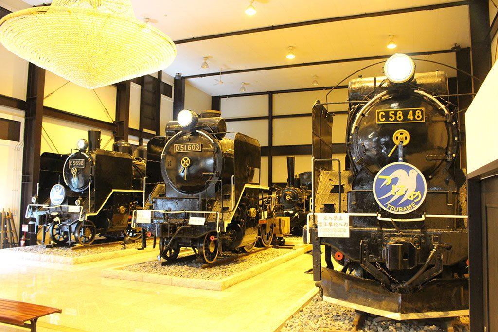 ホールに本物のSLを展示/19世紀ホール(京都府/京都市)