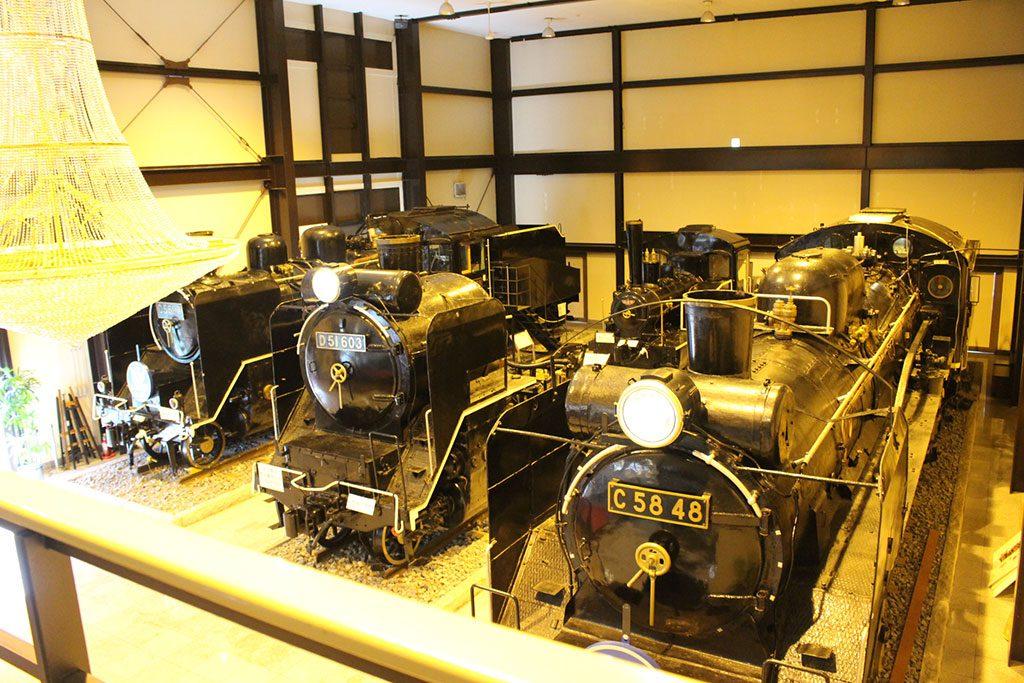 迫力がある車両展示/19世紀ホール(京都府/京都市)