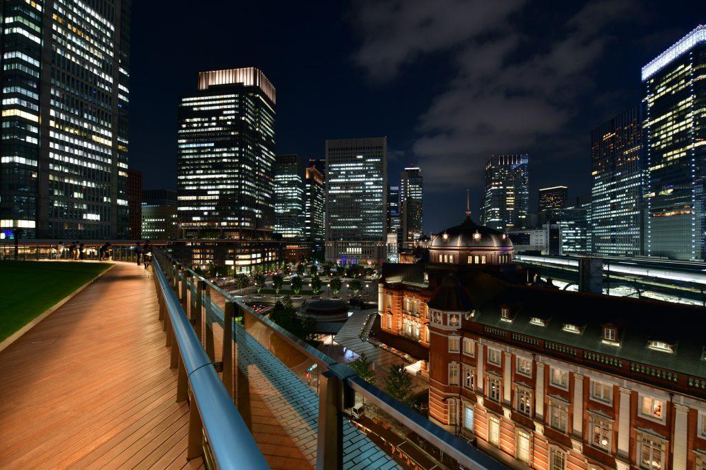 夜の東京駅の景色もオススメ/KITTEガーデン(東京都/千代田区)