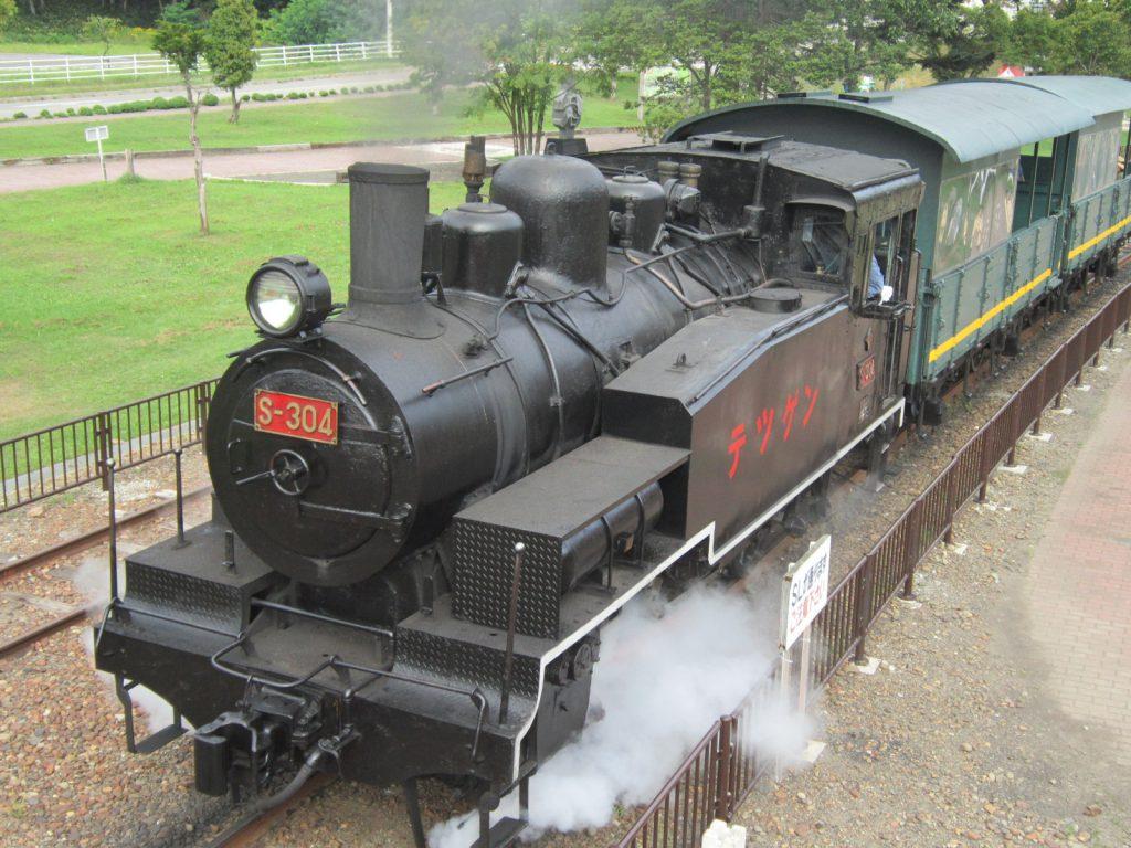 走行するSL-S304号で乗車体験/三笠鉄道記念館(北海道/三笠市)