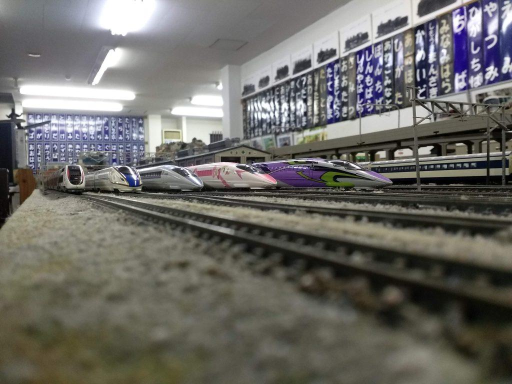 最大11本の列車が走るジオラマ/房総中央鉄道館(千葉県/大多喜町)