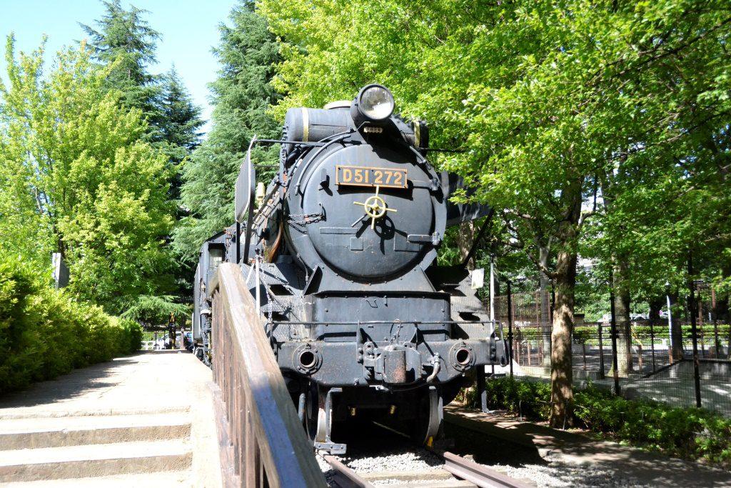 交通広場のD51 272蒸気機関車/世田谷公園(東京都/世田谷区)
