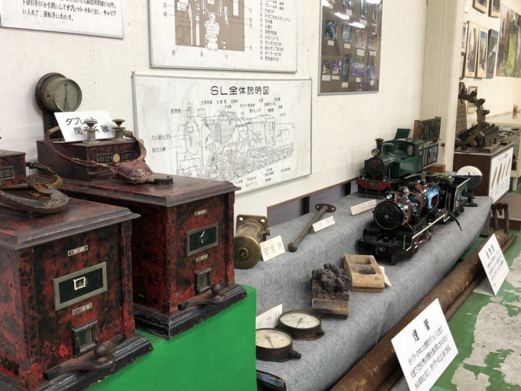 安全弁など使用されていたSLの装置/千頭SL資料館(静岡県/川根本町)