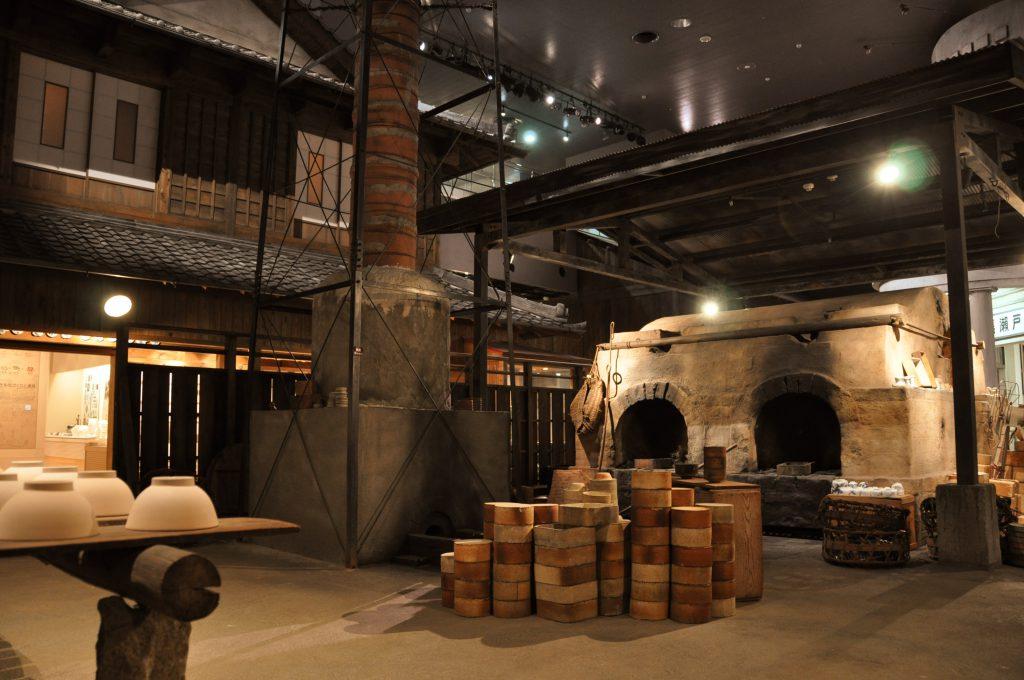 昭和30年代まで活躍した石炭窯と煙突/瀬戸蔵ミュージアム(愛知県/瀬戸市)