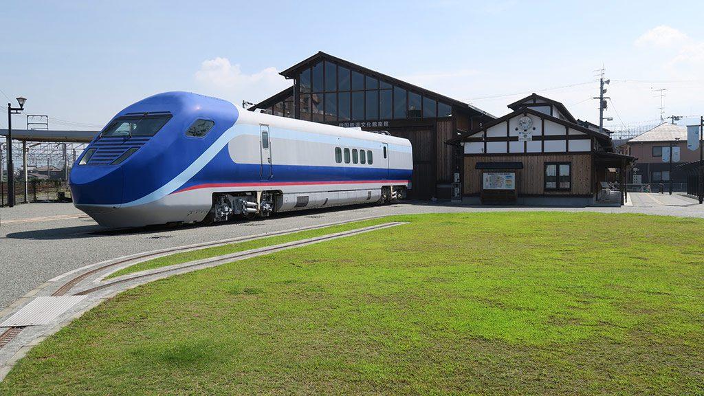 フリーゲージトレインの展示/鉄道歴史パーク in SAIJO(愛媛県/西条市)