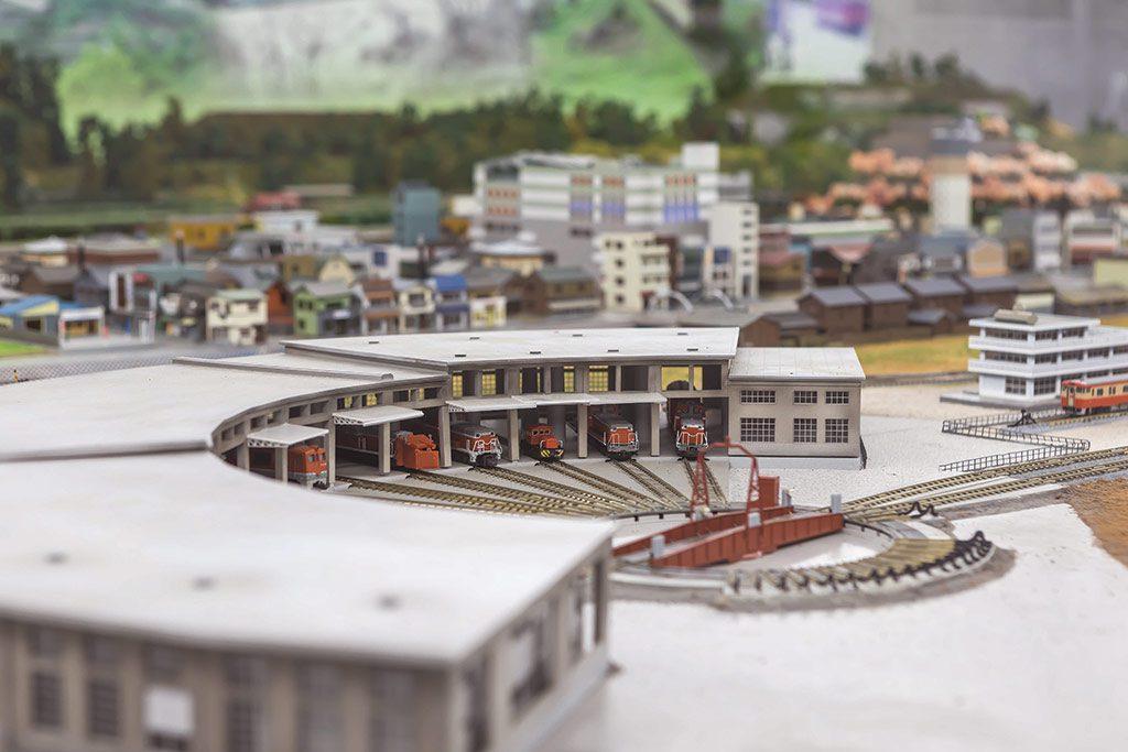 まちなみルームの鉄道ジオラマ/津山まなびの鉄道館(岡山県/津山市)