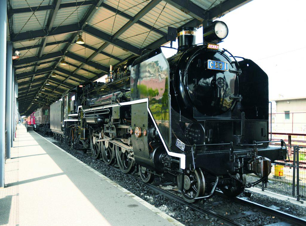 屋外展示「C59 1号蒸気機関車」/九州鉄道記念館(福岡県/北九州市)
