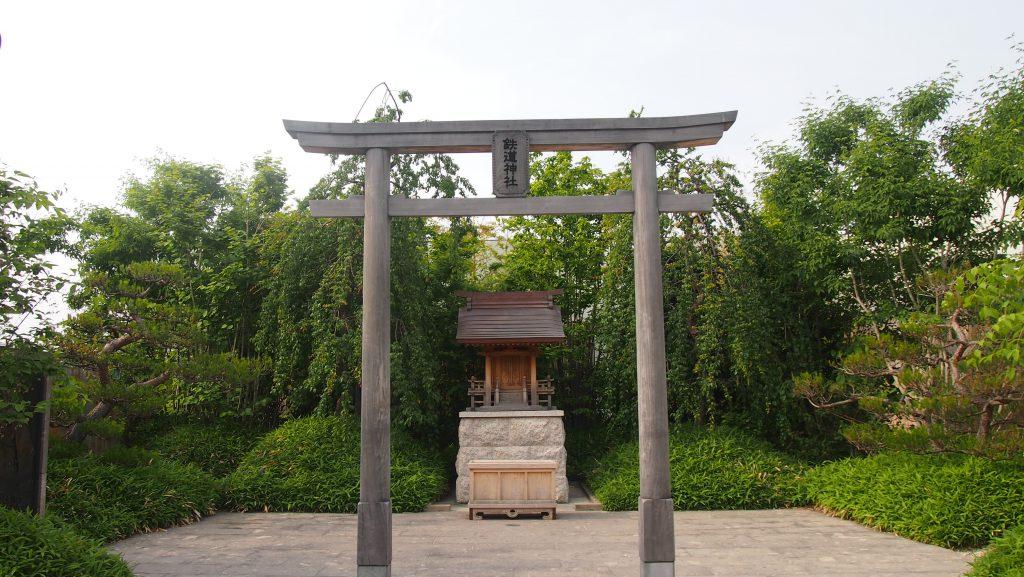 旅の安全を祈願する「鉄道神社」/JR博多シティ(福岡県/福岡市)