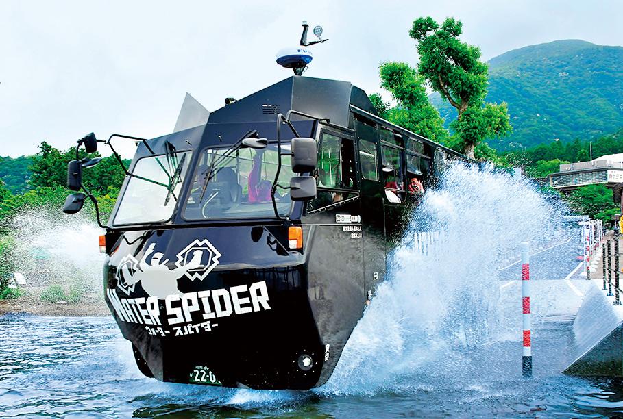 芦ノ湖新名物の水陸両用バス/NINJABUS WATER SPIDER(神奈川県/箱根町)