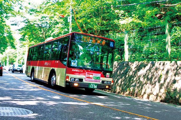 箱根の主要エリアを網羅している箱根登山バス(神奈川県/箱根町)