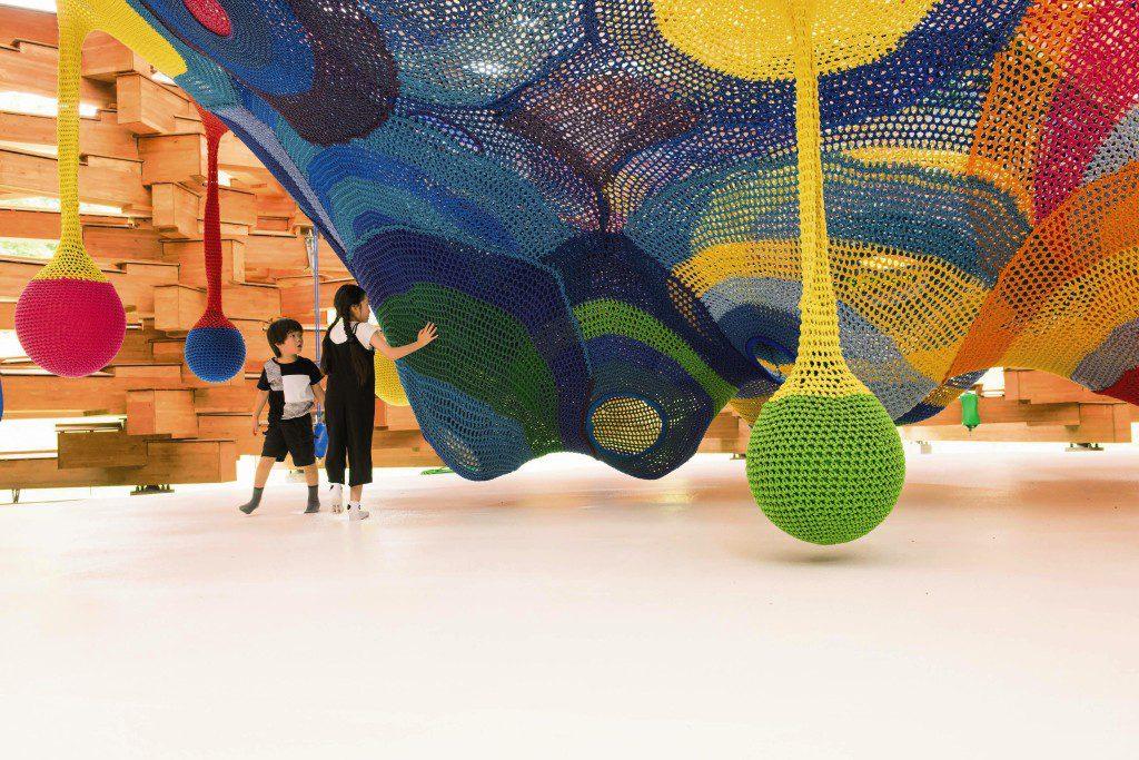 彫刻の森美術館の遊べるアート「ネットの森」(神奈川県/箱根町)