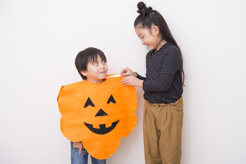 フェルトでかぼちゃポンチョの作り方3