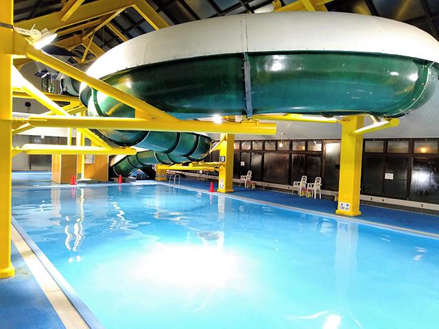 全長40mのウォータースライダー/池の平ホテル(長野県/立科町)