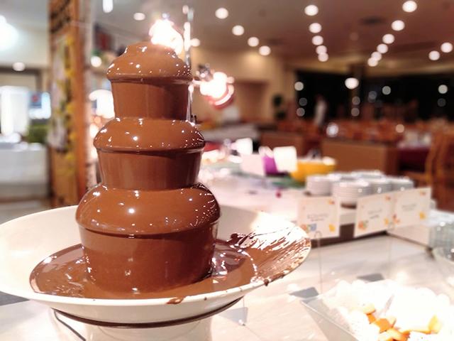 デザートにはチョコレートファウンテン/池の平ホテル(長野県/立科町)