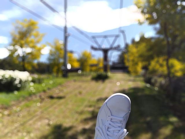リフト初体験で足をブラブラ/池の平ホテル(長野県/立科町)