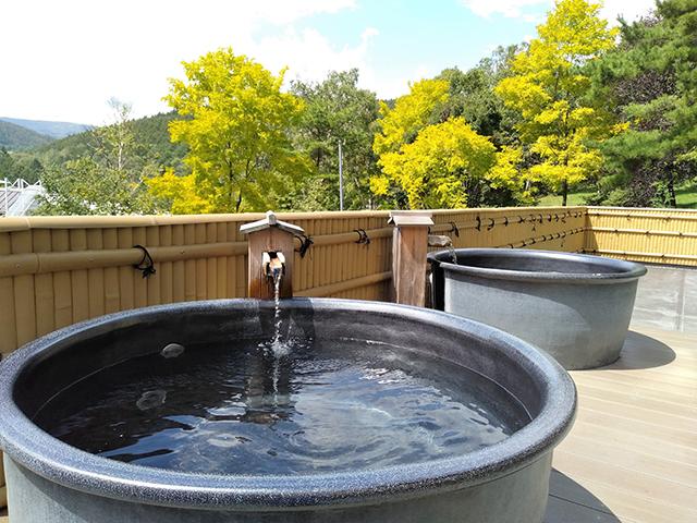 陶器風呂なら親子でゆったり/池の平ホテル(長野県 白樺湖畔)