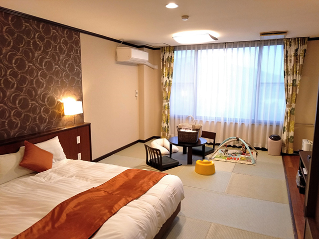 落ち着いた色合いの和モダンルーム/池の平ホテル(長野県 白樺湖畔)